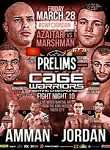 Cage Warriors Fight Night 10 Facebook Prelims